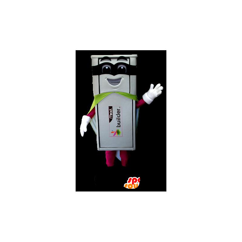 Weiß USB-Maskottchen-Superhelden-Outfit - MASFR21217 - Superhelden-Maskottchen