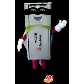 Mascotte de clé USB blanche en tenue de super héros - MASFR21217 - Mascotte de super-héros