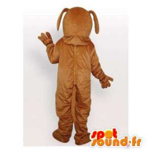 Brown dog mascot customizable - MASFR006452 - Dog mascots