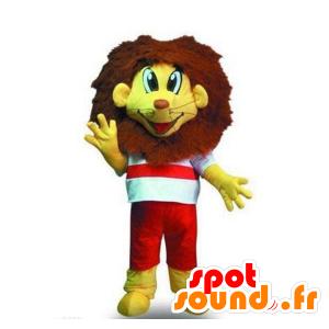 Mascotte piccolo leone giallo e marrone - MASFR21228 - Mascotte Leone