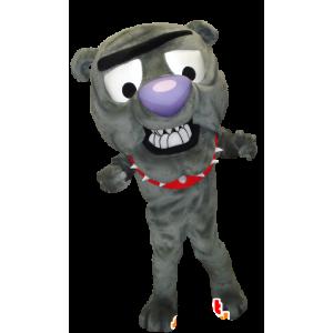 Grau Hund Maskottchen, Bulldogge - MASFR21234 - Hund-Maskottchen