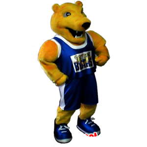 Maskot gul bjørn i sportsklær - MASFR21268 - bjørn Mascot