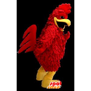 Maskotka żółty i czerwony kogut, kura gigant - MASFR21277 - Mascot Kury - Koguty - Kurczaki