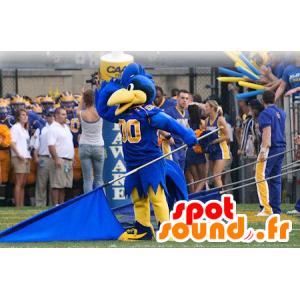 Maskotka niebieski i żółty ptak, w sportowej - MASFR21289 - ptaki Mascot