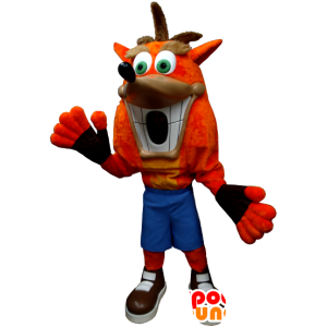 Crash Bandicoot mascotte, de beroemde video game personage - MASFR21290 - Celebrities Mascottes
