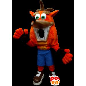 Crash Bandicoot maskot, známý charakter videohry - MASFR21290 - Celebrity Maskoti