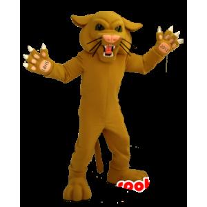 Mascotte beige tigre, ruggito felino - MASFR21291 - Mascotte tigre