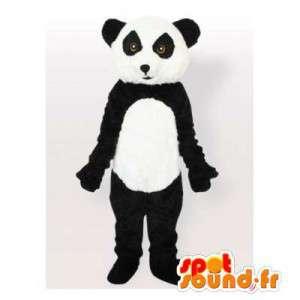 Panda mascotte in bianco e nero. Panda costume