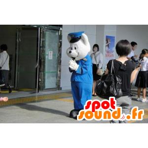 Isbjørnemaskot i politiuniform - Spotsound maskot kostume
