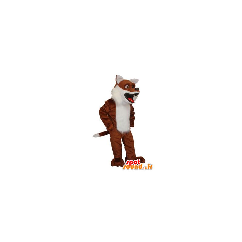 Brown fox mascot and realistic white - MASFR21319 - Mascots Fox