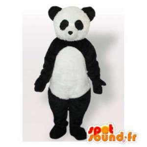 黒と白のパンダのマスコット。パンダスーツ