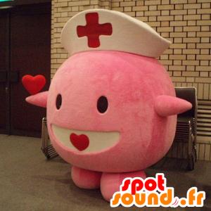 Mascot Chansey kuuluisa vaaleanpunainen Pokemon - hoitajan asu