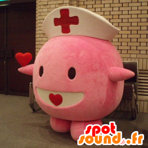 Mascotte de Leveinard, célèbre Pokemon rose - Costume d'infirmier