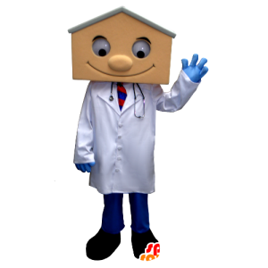 Doctor Mascot blouse, with a house-shaped head - MASFR21346 - Mascots home