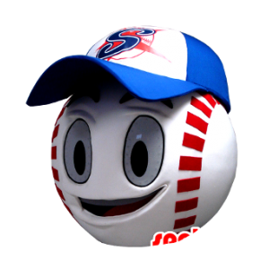 Mascot head, shaped like a giant baseball - MASFR21349 - Heads of mascots