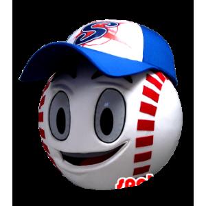 Mascottehoofd, vorm van een gigantische baseball