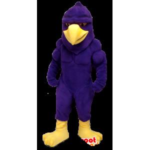 Mascot eagle, purple and yellow bird, very muscular - MASFR21358 - Mascot of birds