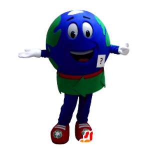Mascot reuze wereldkaart - MASFR21374 - mascottes objecten