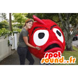 Mascot hairy monster, giant cherry - MASFR21384 - Monsters mascots