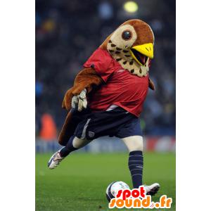 Mascot brązowy i czarny ptak sportowej - MASFR21389 - ptaki Mascot