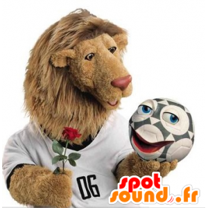 Lion mascot with a big hairy mane - MASFR21439 - Lion mascots