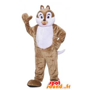 Mascot braune und weiße Eichhörnchen, Tic Tac oder