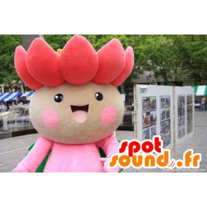 Mascot hübschen rosa und grünen Blume, Lotus- - MASFR21446 - Maskottchen der Pflanzen