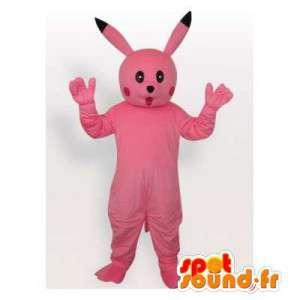 Mascotte de Pikachu rose, célèbre personnage de dessin animé