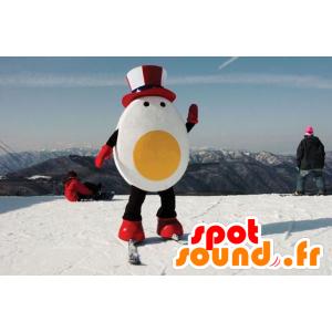 Riesen-Ei-Maskottchen mit einem republikanischen Hut - MASFR21458 - Maskottchen für Obst und Gemüse