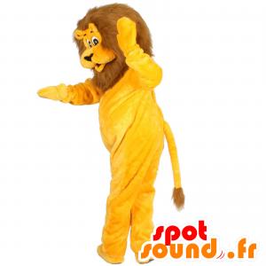 Mascotte de lion jaune et marron - MASFR21478 - Mascottes Lion