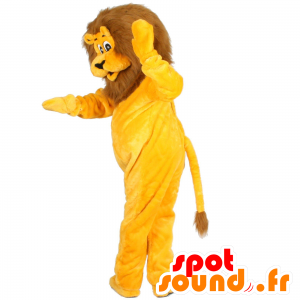 Yellow and brown lion mascot - MASFR21478 - Lion mascots