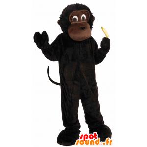 Brun ape maskot, sjimpanse, gorilla liten