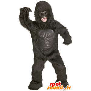 Mascot giant black gorilla, fierce-looking