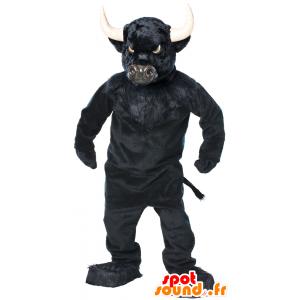 Buffalo maskotka, czarny byk, bardzo imponujące