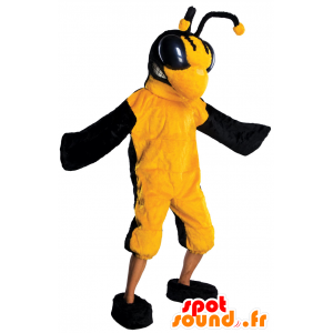 Abelha Mascot, vespa, inseto amarelo e preto