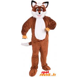 Mascot orange and white fox, all hairy - MASFR21519 - Mascots Fox