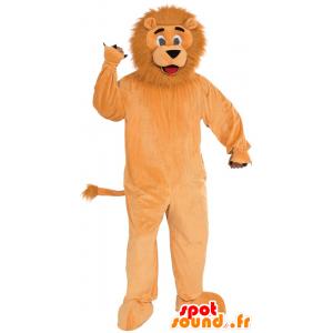 Oranje leeuw mascotte, met een harige manen - MASFR21522 - Lion Mascottes