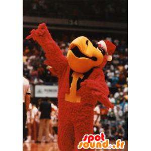 Mascot rød fugl, svart og gult, gigantiske - MASFR21547 - Mascot fugler