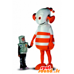 Robot mascot, orange and white alien, giant - MASFR21550 - Mascots of Robots