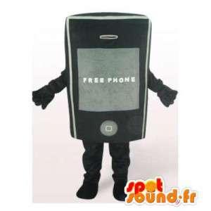 黒の携帯電話のマスコット。携帯電話のコスチューム-MASFR006467-電話のマスコット