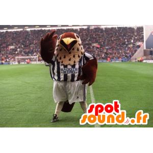 Mascot brązowy i czarny ptak sportowej - MASFR21571 - ptaki Mascot