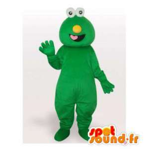 Mascotte de monstre vert. Costume de monstre