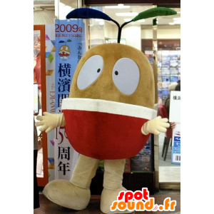 Mascot braunen Früchten, Birne, Apfel Riesen - MASFR21586 - Obst-Maskottchen