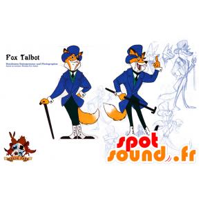 Orange und weiße Fuchs Maskottchen, in Anzug und Krawatte - MASFR21594 - Maskottchen-Fox