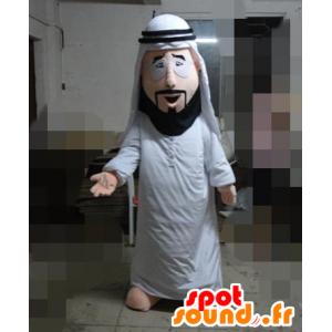 Sultan-Maskottchen im weißen Kleid
