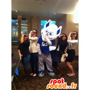 Mascot wit en blauw man, buitenaardse - MASFR21609 - Niet-ingedeelde Mascottes