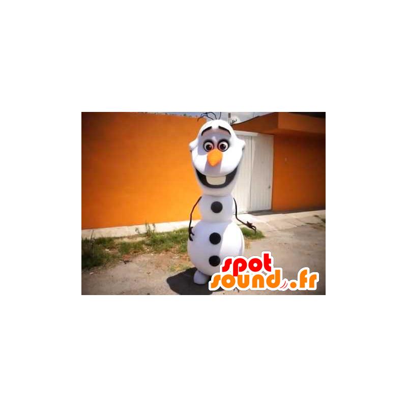 Bílá a černá Snowman Mascot - MASFR21618 - Vánoční Maskoti