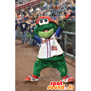 Frog mascot, smiling and funny - MASFR21622 - Mascots frog