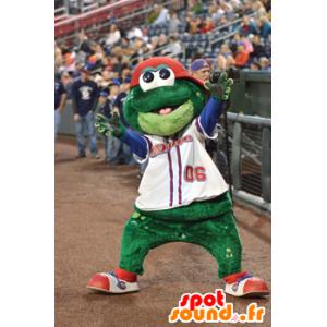 Frosch-Maskottchen, lächelnd und lustig - MASFR21622 - Maskottchen-Frosch