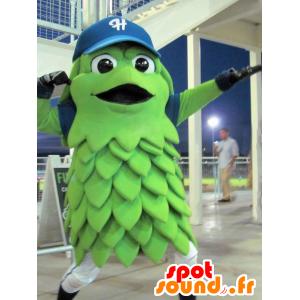 Grüne Frucht Maskottchen, lächelnd Gemüse - MASFR21624 - Maskottchen von Gemüse